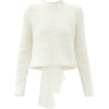 CECILIE BAHNSEN Lou bow-back silk sweate - Pullovers -