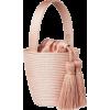 CESTA straw pink bucket bag - Borsette -