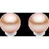 CHAMPAGNE PEARL ZENZII POST EARRINGS - Earrings - $18.00