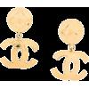 CHANEL PRE-OWNED Chanel logo drop earrin - Orecchine -
