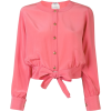 CHANEL PRE-OWNED front-tied collarless s - Cardigan -