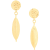 CHANEL PRE-OWNED swinging leaf logo earr - Aretes -