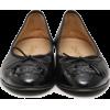 CHANEL black ballerina shoes - scarpe di baletto -