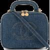 CHANEL black denim bag - Hand bag -