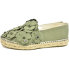 CHANEL green flowers embellished - Flats -
