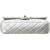 CHANEL silver quilted metallic flap bag - Hand bag -