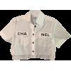 CHANEL white neutral shirt - Košulje - kratke -