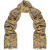 CHAN LUU Frayed floral-print cashmere an - Scarf -