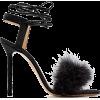 CHARLOTTE OLYMPIA Salsa feather-embellis - Sandale -