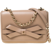 CH Carolina Herrera Beige Leather Flap C - Hand bag -