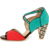 CHELSEA CREW NELLY TEAL AND RED D'ORSAY - Sandale -