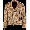 CHIBA Clothing Floral Biker Jacket Sand - Jacket - coats -