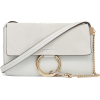 CHLOÉ Faye small leather and suede shoul - Poštarske torbe -