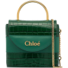 CHLOÉ Aby Lock crocodile-effect tote - Clutch bags -