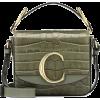 CHLOÉ Chloé C Mini leather shoulder bag - Hand bag -