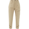 CHLOÉ Cropped cotton-blend canvas cargo - Capri hlače -