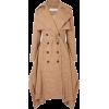 CHLOÉ Draped checked woven trench coat - Jacket - coats -