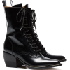 CHLOE black leather lace boots - Boots -