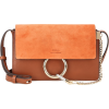 CHLOÉ Faye Small suede and leather shoul - Borsette -