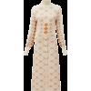 CHLOÉ High-neck argyle midi dress - Obleke -