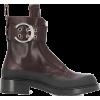 CHLOÉ Roy zip-front ankle boots - Čizme -