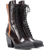 CHLOÉ Rylee Spazzolato Leather Ankle Bo - Boots - $1,330.00