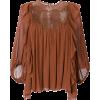 CHLOÉ lace yoke peasant blouse - Shirts -
