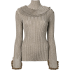 CHLOÉ roll neck ribbed top - Pullovers -