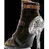 CHLOÉ velvet stiletto ankle boots - Botas -
