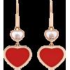CHOPARD Happy Hearts 18-karat rose gold - Naušnice -