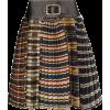 CHOPOVA LOWENA Pleated skirt with a chec - Skirts -