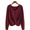 CHUNKY V-NECK TWIST FRONT SWEATER - Pulôver - $59.97  ~ 51.51€