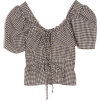 CIAO LUCIA checked black & white blouse - Shirts -