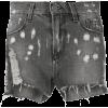 CIRCUS HOTEL distressed denim shorts - Shorts - $175.00  ~ 150.30€