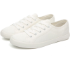 CLASSIC WHITE CANVAS SNEAKERS - Sneakers - $36.97