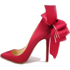 CL Red Satin Pumps - Classic shoes & Pumps -