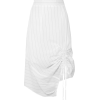 CLU Ruched pinstriped cotton-poplin skir - Skirts -