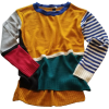 COLOR BLOCK KNIT SWEATER - Pullovers - $29.00