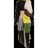 COLVILLE  Colour-block asymmetric wool m - Dresses -
