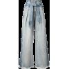 COMME MOI two-tone wide-leg denim trouse - Traperice -