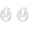 CORNELIA WEBB silver-plated crystal doub - Naušnice -