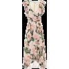 COSTARELLOS Floral crêpe midi dress - Dresses -