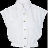 CROP BLOUSE - 半袖衫/女式衬衫 -