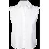 CROP BUTTON UP - Camicia senza maniche -