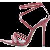 CROSS STRAP HIGH HEEL SANDALS-3 - Sandals - $29.97