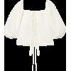 CULT GAIA Aurel lace-up cotton and linen - Shirts -