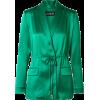 CUSHNIE Open-back silk-satin blazer - Chaquetas -