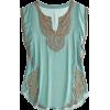 Calypso St. Barth teal top - T-shirts -