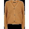 Camel Chunky Knit Cardigan New Look - Cardigan -