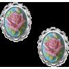 Cameo Rose Earrings  - Earrings - $28.00